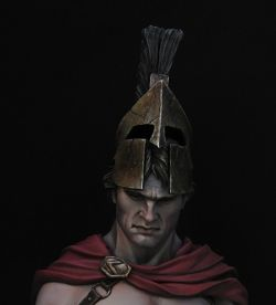 Spartan warrior. Battle of Thermopylae.