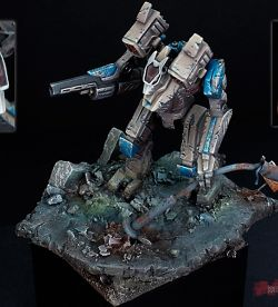 Warwolf BattleMech - 1/285 scale