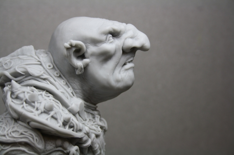 Goblin warrior bust
