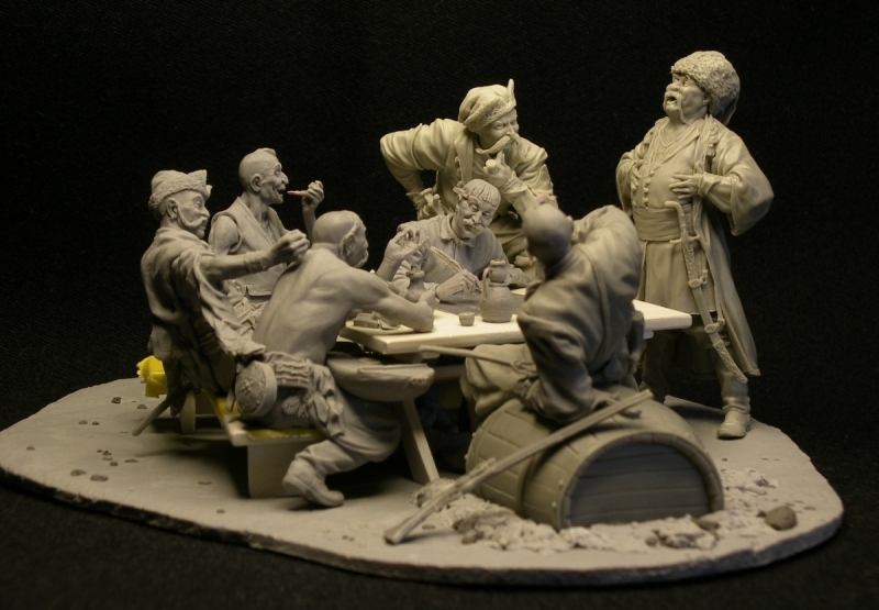 Zaporozhye Cossacks (complete composition), 75mm