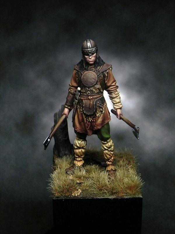 Saxon Warrior 5th C By Samuel Diociase  U00b7 Putty U0026paint