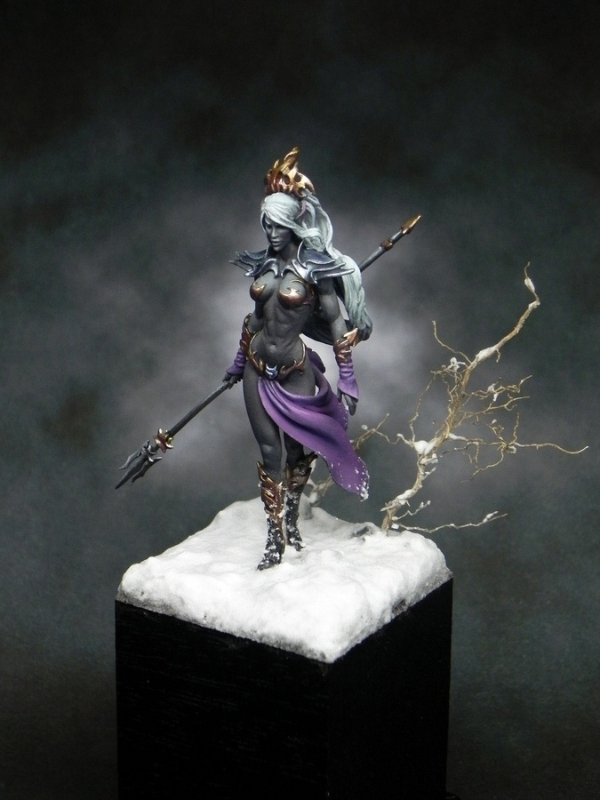 Luaayne The Drow Sorceress By Samuel Diociase 183 Putty Amp Paint