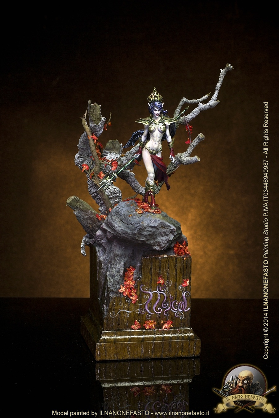 Micol 54mm Andrea Miniatures Female Dark Elf By