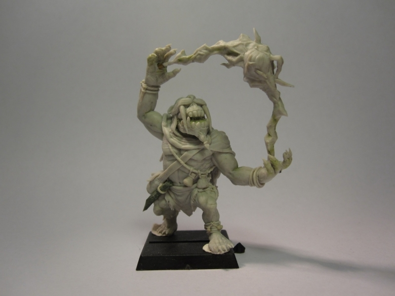 Shaman Orc Shieldwolf Miniature Commission By Paolof