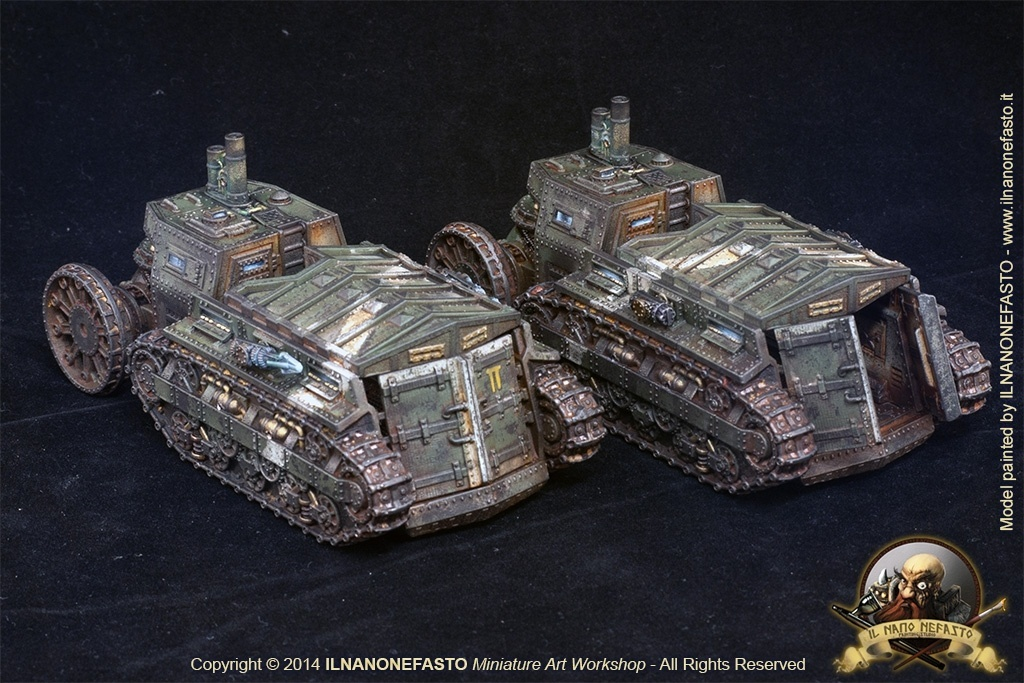 Victorian Steampunk German Armored Troop Carrier By