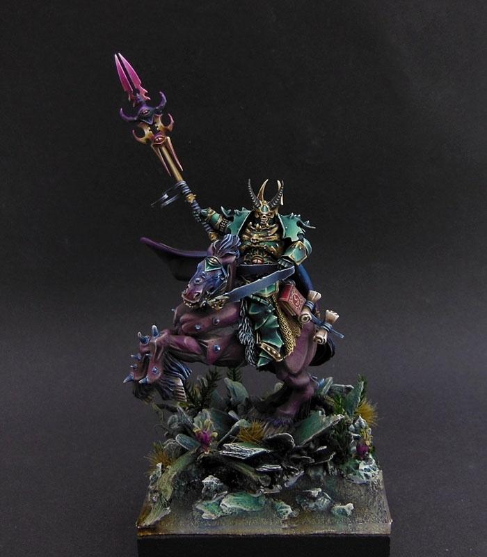 Tzeentch Sorcerer By Mattia Papaleo Raccolor 183 Putty Amp Paint