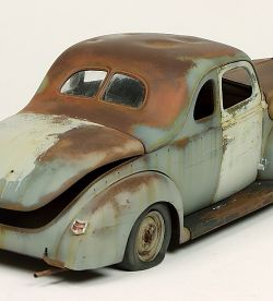 Rusty 1940 Ford Coupe