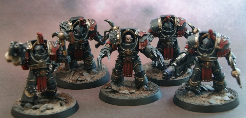 Squad Kruger - Justaerin Terminators of The Sons of Horus