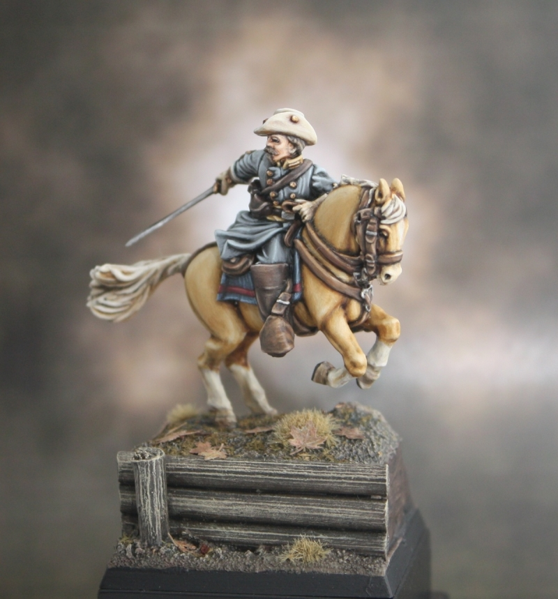 Confederate Officer 28mm