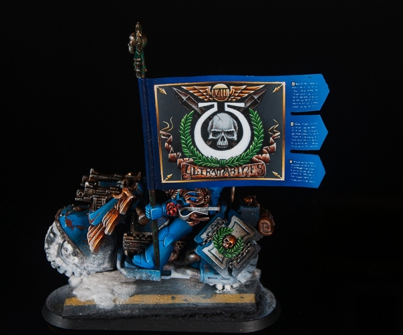 Space Marine Ultramarine Veteran bikers