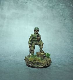 Bolt Action miniature: American WWII officer