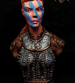 Shieldmaiden Bust (Shieldwolf Miniatures)