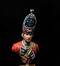 British infantry bust