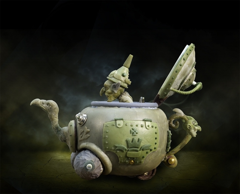 Goblin & the Steampunk Teapot