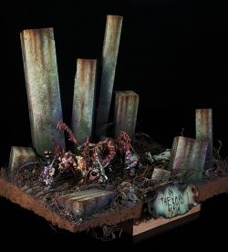 On the Road Again Nurgle diorama