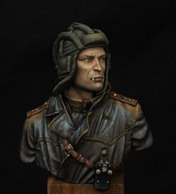 Soviet tank commander 1943. Young miniatures