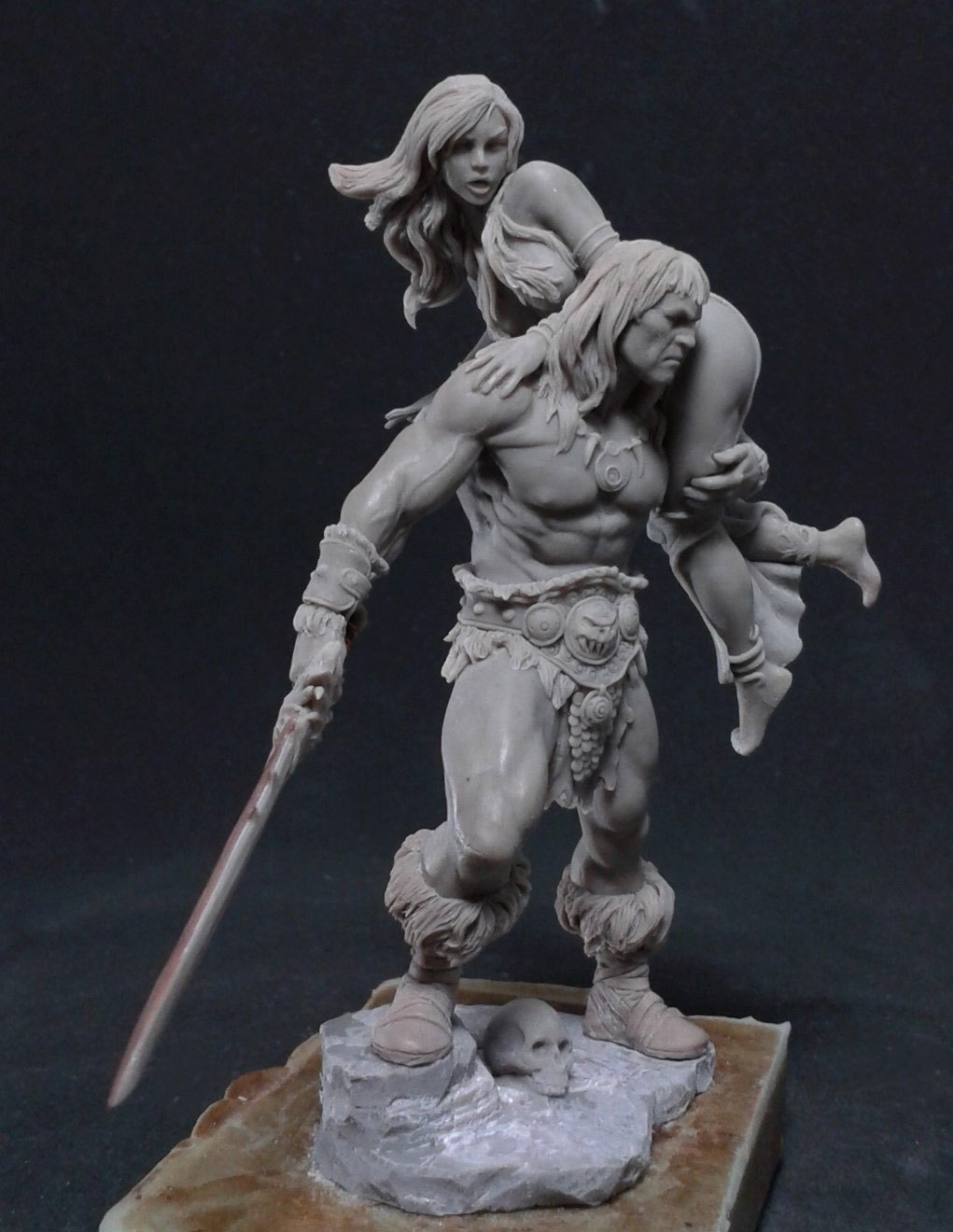 Barbarian And Girl By Freeman 183 Putty Amp Paint