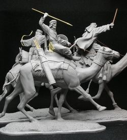 Camel riders, scale 54 mm