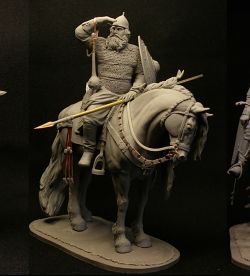Alyosha Popovich, the third legendary warrior. And all three together! 90mm