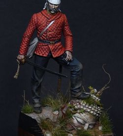 Officer 29th Rgt on foot, India 1849 - 54 mm