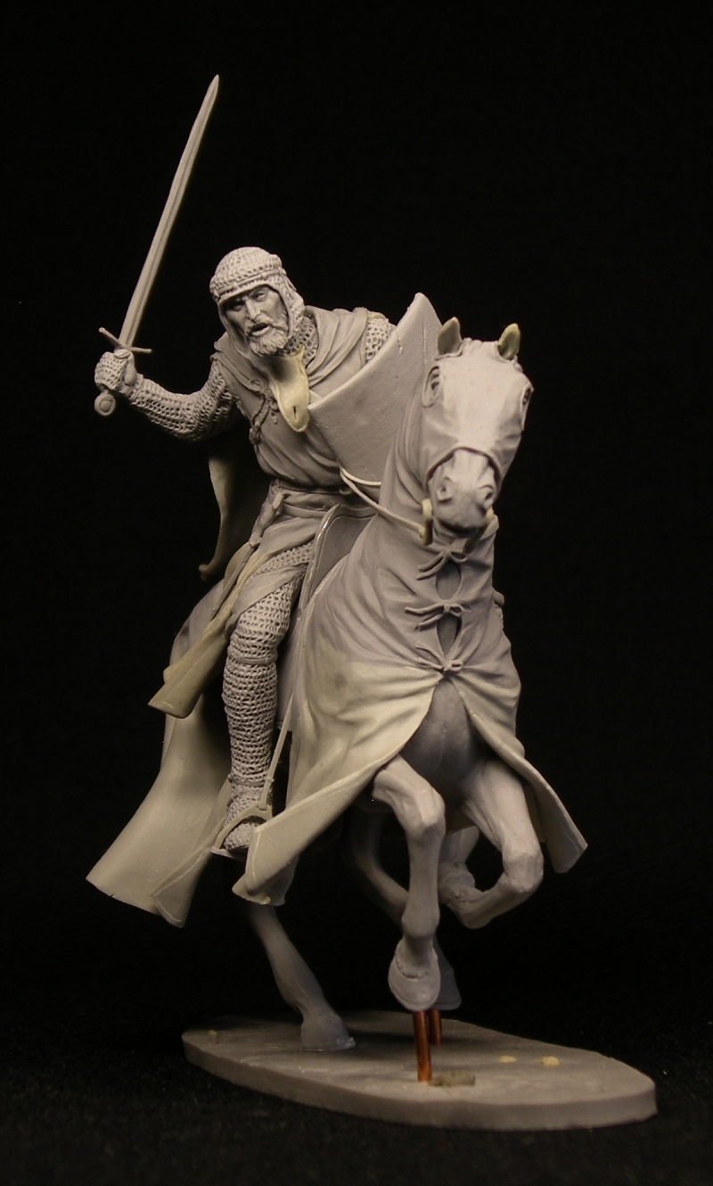 Teutonic knight . Battle of Lake Peipus, 1242. Scale 75 mm,
